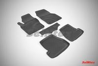 Резиновый коврик Seintex с бортиком для Ford FOCUS III 2011-2015