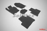 Резиновый коврик Seintex с бортиком для Haval H8 (2 ряда) 2015-