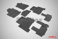 Резиновый коврик Seintex с бортиком для Haval H9 (3 ряда) 2015-