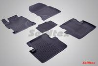 Резиновый коврик Seintex с бортиком для Honda CIVIC 4D IX 2012-