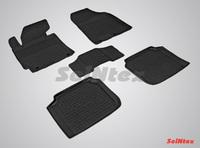 Резиновый коврик Seintex с бортиком для Kia CERATO 2013-