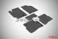 Резиновый коврик Seintex с бортиком для Kia RIO II 2005-2011