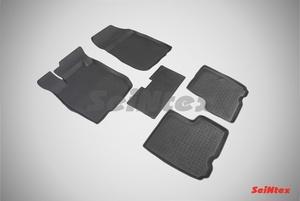 Резиновый коврик Seintex с бортиком для Lada LARGUS 2012-