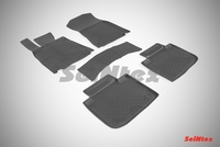 Резиновый коврик Seintex с бортиком для Lexus GS IV 2015-