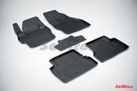 Резиновый коврик Seintex с бортиком для Mazda 3 2009-2013