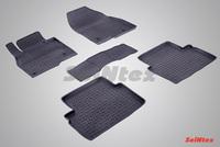 Резиновый коврик Seintex с бортиком для Mazda 3 2013-