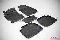 Резиновый коврик Seintex с бортиком для Mazda 6 2008-2012