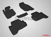 Резиновый коврик Seintex с бортиком для Mitsubishi L200 2006-2015