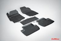 Резиновый коврик Seintex с бортиком для Mitsubishi LANCER X 2007-