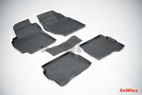 Резиновый коврик Seintex с бортиком для Nissan ALMERA classic (B10) 2006-2013