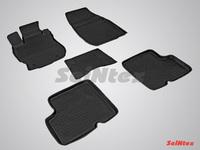 Резиновый коврик Seintex с бортиком для Nissan ALMERA IV 2013-