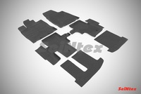 Резиновый коврик Seintex с бортиком для Nissan PATHFINDER IV 2014-