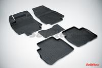 Резиновый коврик Seintex с бортиком для Nissan TIIDA 2007-2015