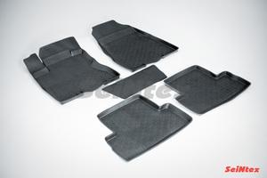 Резиновый коврик Seintex с бортиком для Nissan Х-TRAIL (T31) 2007-2015