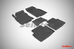 Резиновый коврик Seintex с бортиком для Nissan Х-TRAIL (T32) 2015-