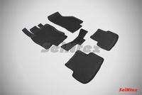 Резиновый коврик Seintex с бортиком для Seat Leon III 2013-