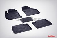Резиновый коврик Seintex с бортиком для Toyota COROLLA 2013-