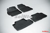 Резиновый коврик Seintex с бортиком для Toyota COROLLA (300N/MC) 2007-2013