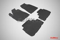 Резиновый коврик Seintex с бортиком для Toyota HIGHLANDER II 2007-2014