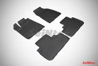 Резиновый коврик Seintex с бортиком для Toyota HIGHLANDER III 2014-