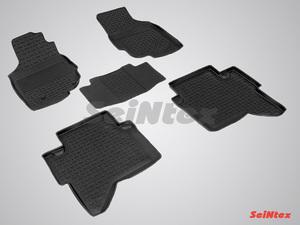 Резиновый коврик Seintex с бортиком для Toyota HILUX 2012-2015
