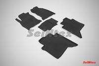 Резиновый коврик Seintex с бортиком для Toyota HILUX VIII 2015-