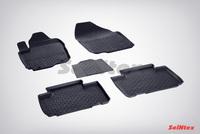 Резиновый коврик Seintex с бортиком для Toyota RAV 4 IV 2012-