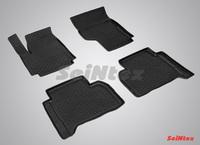 Резиновый коврик Seintex с бортиком для Volkswagen Amarok 2009-