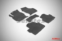 Резиновый коврик Seintex с бортиком для Volvo XC-70 2013-
