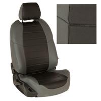 Авточехлы на сидения для Peugeot Partner Tepee / Citroen Berlingo II (2 места) с 08г. - серый+черный