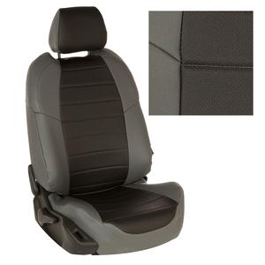 Авточехлы на сидения для Mazda CX-5 (три отд. кресла) Touring, Active с 11-17г. - серый+черный