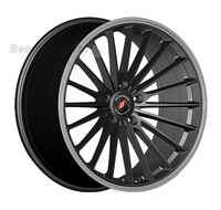 Inforged IFG36 8*18 5/108 ET45 d63,3 Black Machined Lip