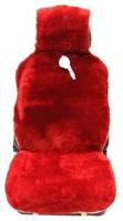 """Меховая накидка Автопилот """"Австралия"""" на переднее сиденье из Овчины, короткостриженная. Красная"""