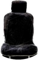 """Меховая накидка Автопилот """"Австралия"""" на переднее сиденье из Овчины, короткостриженная. Черная."""