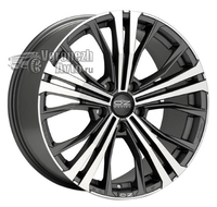 OZ Racing Cortina 9,5*20 5/130 ET52 d71,6 Matt Dark Graphite Diamond Cut