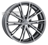 OZ Racing Envy 7,5*17 5/120 ET29 d79 Matt Silver Tech Diamond Cut