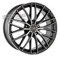 OZ Racing Italia 150 7*17 4/108 ET25 d65,1 Matt Dark Graphite Diamond Cut