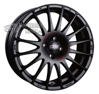 OZ Racing Superturismo GT 8*17 5/105 ET40 d56,6 Matt Black Red Lettering