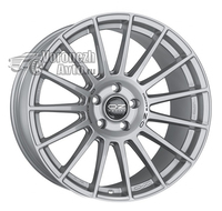 OZ Racing Superturismo LM 8*18 5/100 ET35 d68 Matt Race Silver Black Lettering