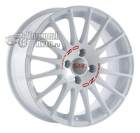 OZ Racing Superturismo WRC 7*17 5/114,3 ET45 d75 White Red Lettering
