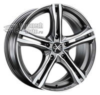 OZ Racing X5B 7,5*17 5/115 ET40 d70,2 Matt Graphite Diamond Cut