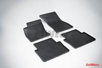 Резиновый коврик Seintex сетка для Audi А8 2008-2010