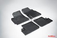Резиновый коврик Seintex сетка для Chery TIGGO (T11) 2006-2014