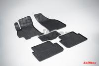 Резиновый коврик Seintex сетка для Chevrolet LANOS 2005-2009