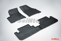 Резиновый коврик Seintex сетка для Chevrolet REZZO 2004-2010