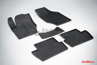 Резиновый коврик Seintex сетка для Citroёn С 4 sedan 2012-