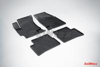 Резиновый коврик Seintex сетка для Kia RIO II 2005-2011