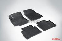 Резиновый коврик Seintex сетка для Nissan TIIDA 2007-2015