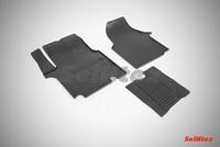 Резиновый коврик Seintex сетка для Opel Vivaro 2001-