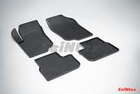 Резиновый коврик Seintex сетка для Peugeot 207 2006-2013